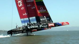 Emirates Team New Zealand Americas Cup catamaran