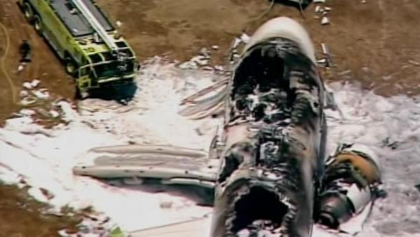 Plane crashes at SFO