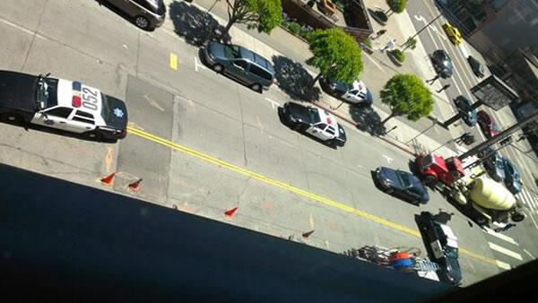 Shooting on Brannan Street in San Francisco. (Photo courtesy of Gordon Koo via Twitter)