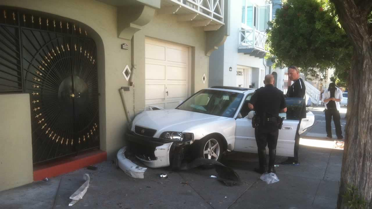 A suspect is in custody after ramming a police vehicle with a  stolen car in San Franciscos Bayview District Monday afternoon.