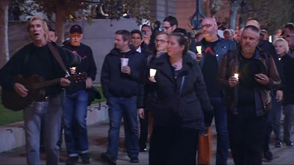 Vigils held to honor Harvey Milk, George Moscone