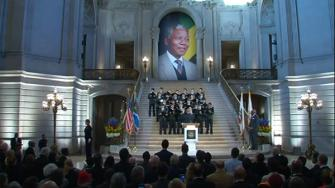 Nelson Mandela memorial takes place in San Francisco