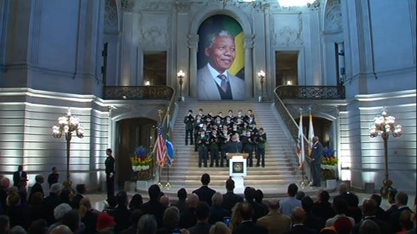 Memorial takes place in SF to honor Mandela