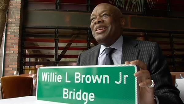 New Willie Brown signs to be unveiled on Bay Bridge