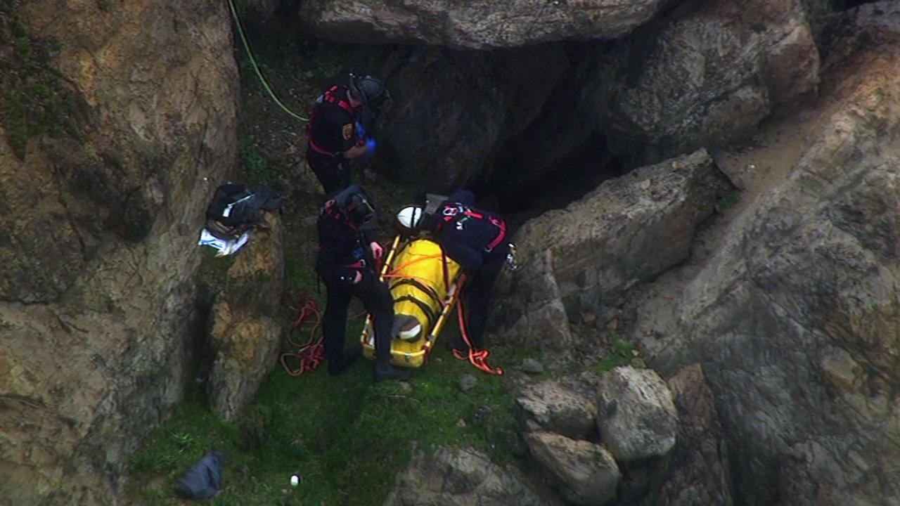 Woman rescued after fall near the Cliff House in San Francisco.