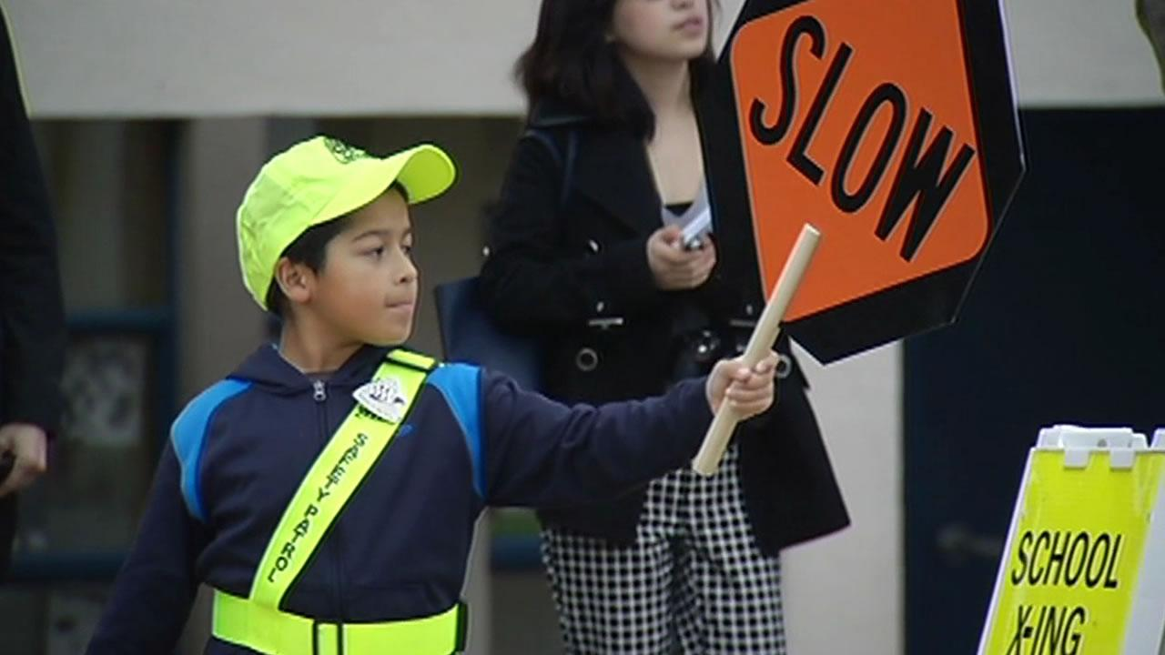 A new student crossing guard program kicked off at an elementary  school in San Francisco Monday.