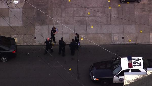 Police search for gunman after officer shot in SF