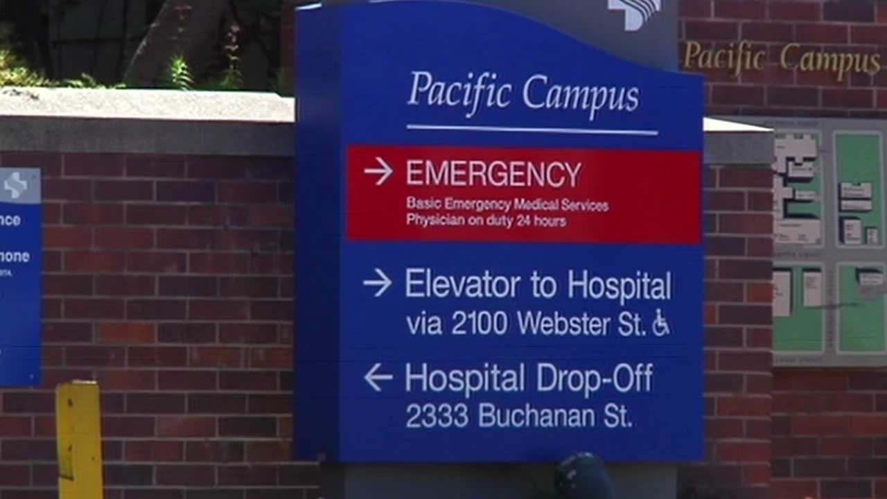 California Pacific Medical Center sign in San Francisco