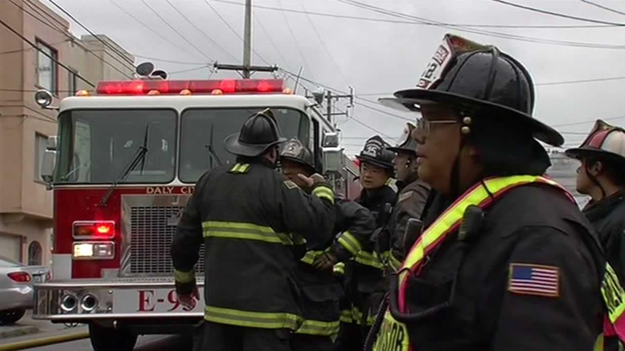 One person is dead and four more have been injured in a two-alarm house fire in San Francisco near the Cow Palace.