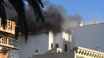 A fire at a residential building in San Franciscos Mission  Dolores neighborhood has been upgraded to a second alarm.