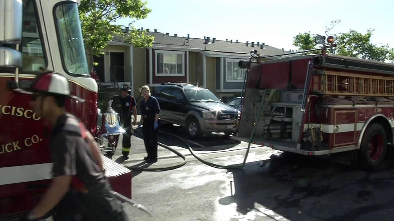 Four people were displaced after a fire broke out at their three-story home in SFs Bayview District on Tuesday morning.