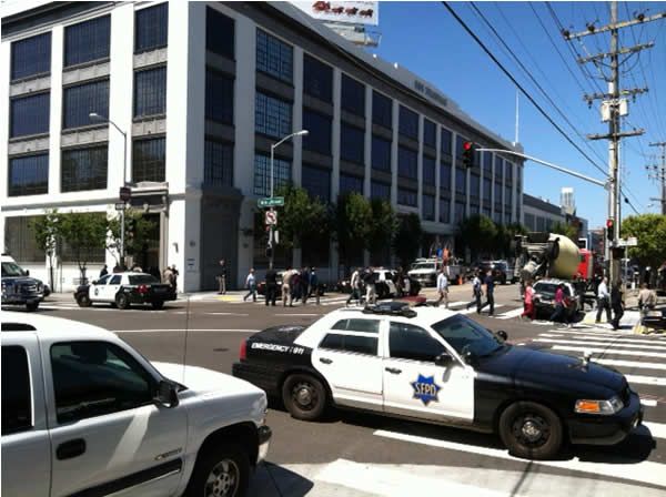 San Francisco shooting on Brannan Street: People getting escorted out of buildings