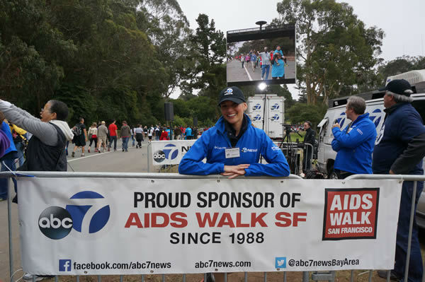 Thousands of people took part in the annual AIDS Walk San Francisco event at Golden Gate Park on Sunday.  <span class=meta>(KGO Photo)</span>