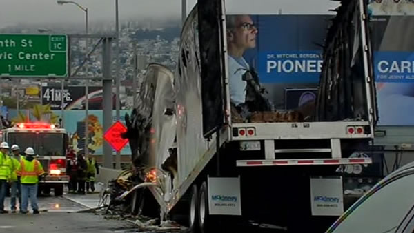 "<div class=""meta ""><span class=""caption-text "">Big-rig fire closes WB I-80 lanes for 10 hours Monday, August 5th, 2013.  A big-rig getting off the Bay Bridge caught fire during the morning commute.</span></div>"