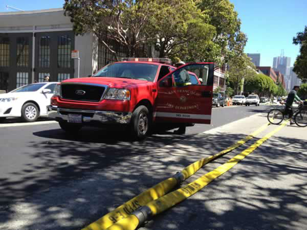 "<div class=""meta ""><span class=""caption-text "">Fire crews in San Francisco battle a fire at a building under renovation at Pier 29.  Wednesday, June 20, 2012. (Rachel Schwartz/ABC7 News)</span></div>"