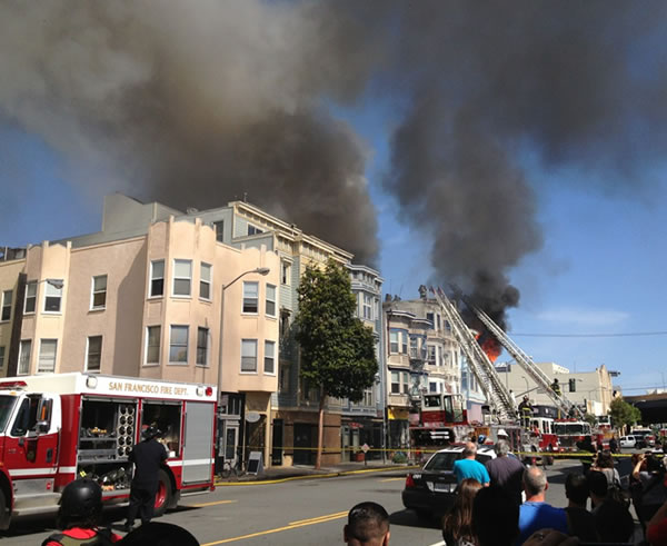 "<div class=""meta ""><span class=""caption-text "">A viewer took this photo and told ABC7 News he lives nearby and was on the rooftop balcony when it started. (Photo courtesy @Ryan via Twitter)</span></div>"