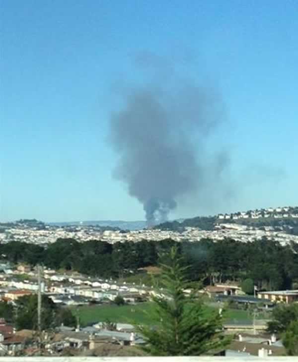 A major fire burning near 4th Street near China Basin in San Francisco.