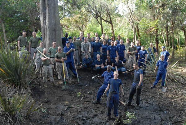 "<div class=""meta ""><span class=""caption-text "">Military Gets Dirty at the San Francisco Zoo: On Friday, October 5, a team of approximately 50 Marines and Sailors from the 13th Expeditionary Unit participated in a habitat restoration and clean-up project at the SF Zoo. Based out of Camp Pendleton, California, these service men and women visited the San Francisco Zoo as part of San Francisco Fleet Week 2012 community service program. Having requested the toughest assignment the Zoo has to offer, the teams set out to clean up the Lower Lake, removing weeds and invasive plants. They cheerfully spent the morning waist-deep in mud and muck and for that, the Zoo is very grateful.  (San Francisco Zoo)</span></div>"