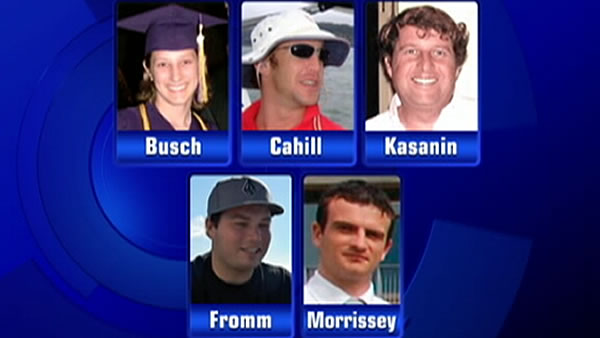 "<div class=""meta image-caption""><div class=""origin-logo origin-image ""><span></span></div><span class=""caption-text"">There were 5 people who died when the yacht ran aground at The Farallones: Alexis Busch, Alan Cahill, Marc Kasannin, Jordan Fromm and Elmer Morrissey.</span></div>"