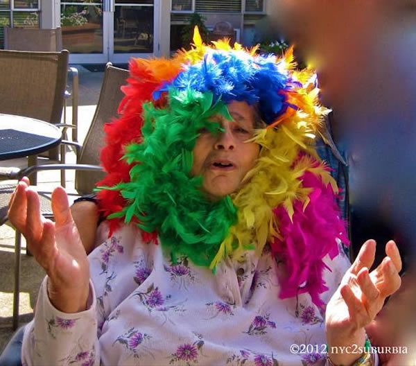 "<div class=""meta ""><span class=""caption-text "">The 2012 San Francisco Pride event brought hundreds of thousands of people together to celebrate gay pride. This viewer says, ""Dementia-Mama-Drama Ready for GLBT PRIDE. She's always been supportive of our community & ready to belt out a tune at the drop of a boa!""   (Photo submitted via uReport by nyc2suburbia)</span></div>"