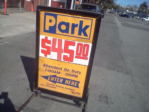 Expensive parking found along the Embarcadero in San Francisco. As one viewer called it, &#34;Parking bounty along The Embarcadero!&#34;  &#40;Photo submitted via uReport&#41; <span class=meta>(KGO)</span>