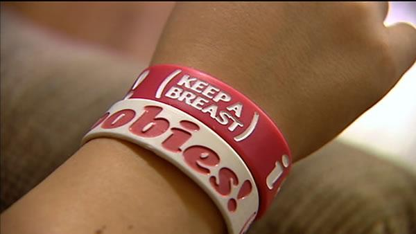 Breast cancer bracelets cause stir at middle school