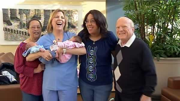 Twin having twins reunites Kaiser patients, staff