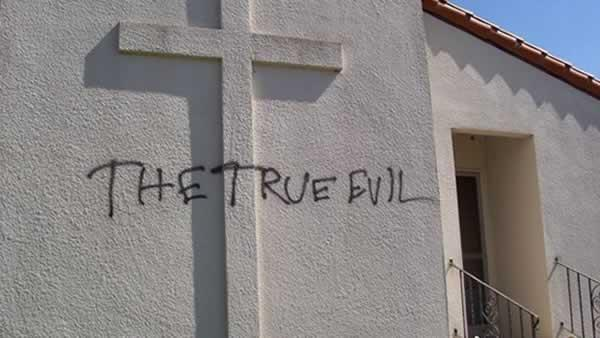 Extreme church vandalism may qualify as hate crime