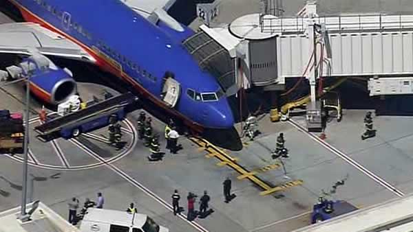 Southwest flight lands in SJ after report of smoke