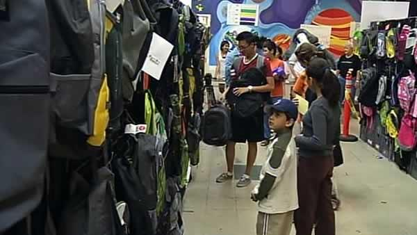Record crowd turns out for backpack giveaway