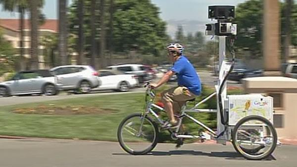 Google Street View explores Santa Clara University