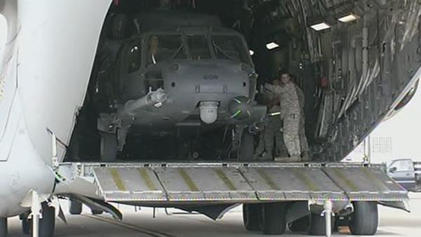 Air National Guard out of Moffett Field to help with Sandy relief