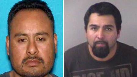 Morgan Hill rape suspects pictured left to right - Eladio Cruz Facio and Roberto Andres Lopez.