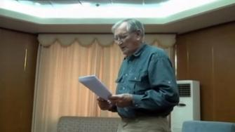 Merrill Newman in a video released by North Korean authorities