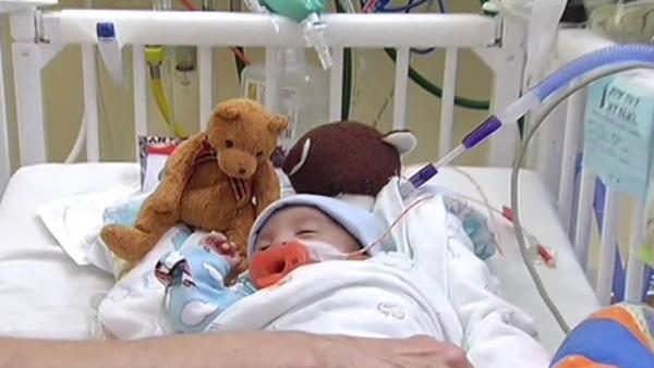 Premature baby has hope of going home by Christmas