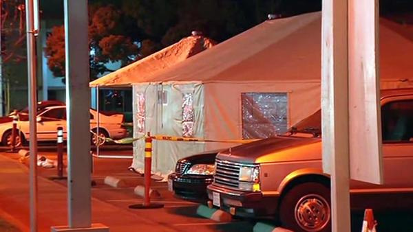 Hospitals set up overflow tents for flu patients