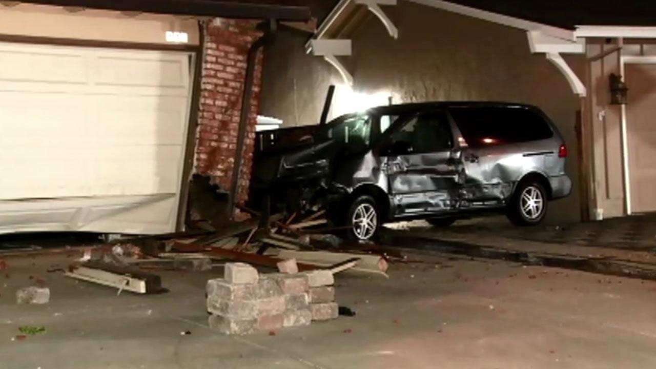 Vehicle crashes into two Santa Clara homes.