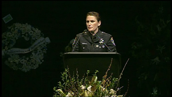 Santa Cruz police officer Laurel Schonfield speaks about Det. Elizabeth Butler. <span class=meta>(Santa Cruz police officer Laurel Schonfield speaks about Det. Elizabeth Butler.)</span>