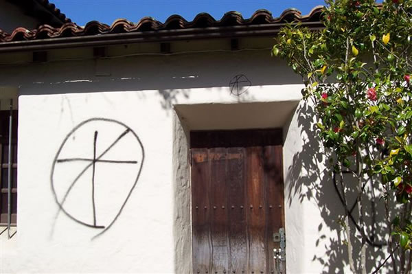 "<div class=""meta ""><span class=""caption-text "">Police are investigating extensive vandalism that took place May 6, 2012 at historic Holy Cross Church in Santa Cruz.</span></div>"
