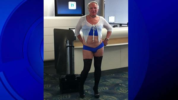 Does lingerie-clad man prove airline double standard?