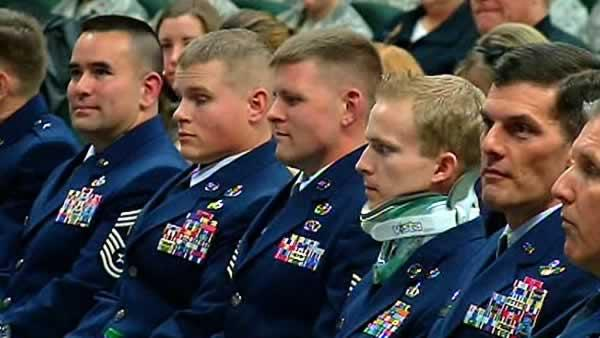 Three airmen awarded Purple Heart at Travis AFB