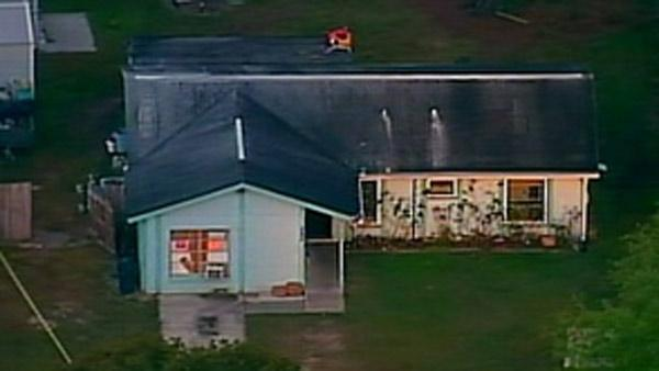 House where large sinkhole opened in Florida.