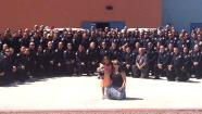 Hundreds of police officers attended the kindergarten graduation of a little girl whose father was killed in the line of duty.