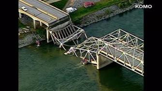 The Washington State Patrol says the I-5 bridge over the Skagit River has collapsed, dumping vehicles and people into the water.