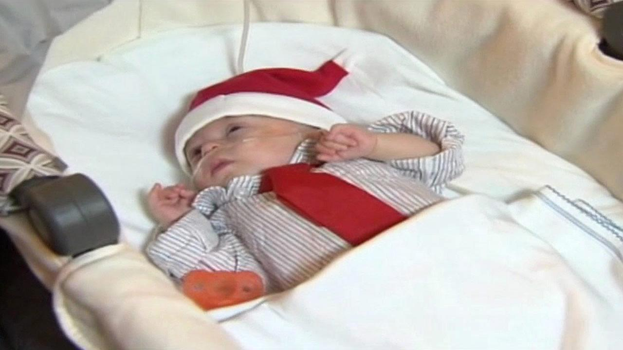 The tiniest baby ever born at a Florida hospital has been allowed to go home just in time for Christmas.