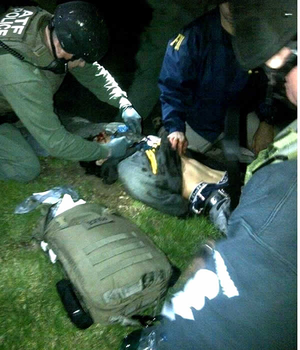 ATF confirms this image is of one of their medics working on the Boston Marathon bombing suspect