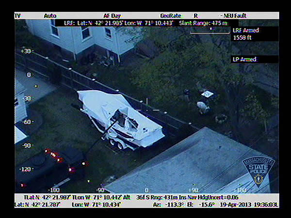 "<div class=""meta ""><span class=""caption-text "">Dzhokhar Tsarnaev was captured late Friday inside a boat parked in a Watertown backyard after a furious search. Credit: Massachusetts State Police</span></div>"