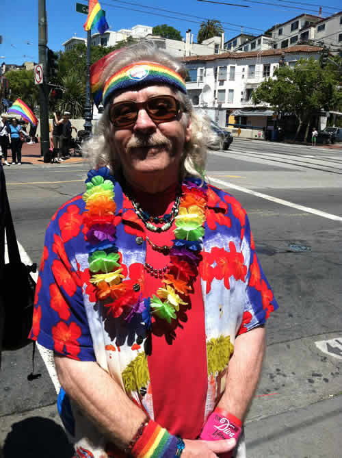 Same-sex marriage supporter smiles in San Francisco&#39;s Castro neighborhood after the Supreme Court&#39;s ruling on Proposition 8. <span class=meta>(KGO)</span>