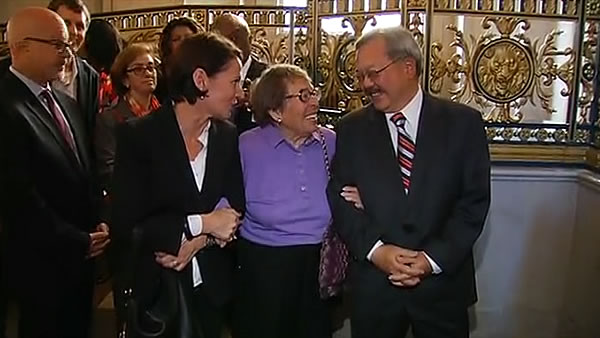 "<div class=""meta image-caption""><div class=""origin-logo origin-image ""><span></span></div><span class=""caption-text"">Mayor Ed Lee and supporters of gay marriage celebrate at City Hall in San Francisco after Proposition 8 ruling. (KGO)</span></div>"