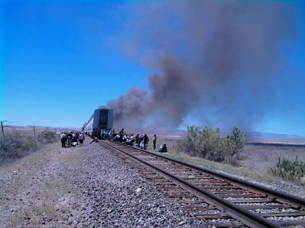 "<div class=""meta ""><span class=""caption-text "">The California Zephyr was en route from Chicago to Emeryville, Calif. (Photo courtesy of KXTV viewer Jim Bickley)</span></div>"